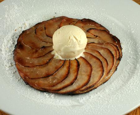 Thin Apple Tart with Vanilla Ice Cream