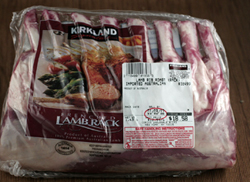 costco lamb in package