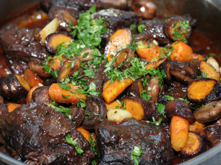 braised short ribs with root vegetables