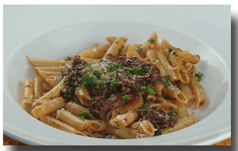 Penne with Braised Short Ribs Ragu