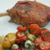 duck confit with roasted carrots