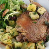 duck confit with mesclun and roasted potatoes