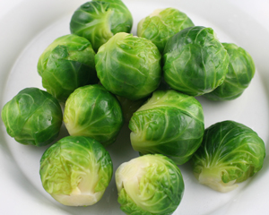 blanched brussel sprouts